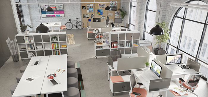A very nice office with high quality furniture.