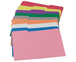 Colored Top-Tab File Folders